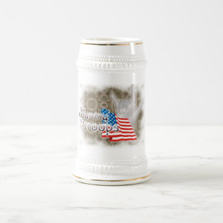 My country, My Troops, ILY 18 Oz Beer Stein