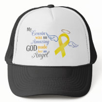 My Cousin An Angel - Bladder Cancer Trucker Hat