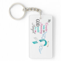 My Cousin an Angel – Cervical Cancer Keychain
