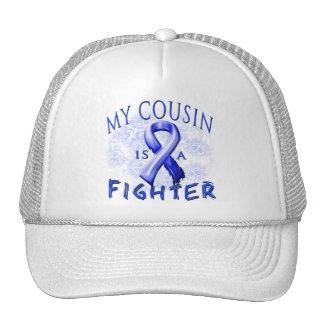 My Cousin Is A Fighter Blue Trucker Hat