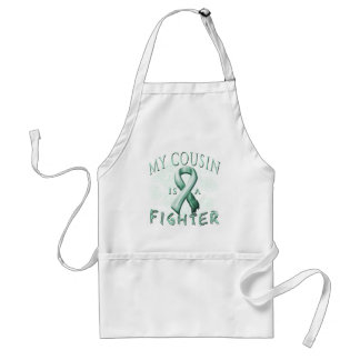 My Cousin is a Fighter Teal Adult Apron