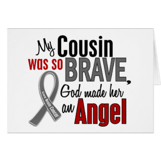 My Cousin Is An Angel 1 Brain Cancer Greeting Card