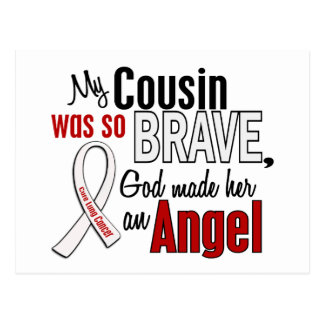 My Cousin Is An Angel Lung Cancer Postcard