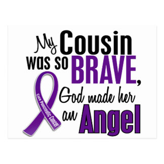 My Cousin Is An Angel Pancreatic Cancer Postcard