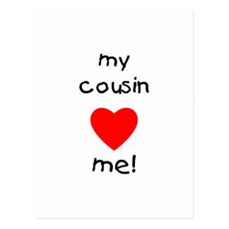 My Cousin Loves Me Postcard