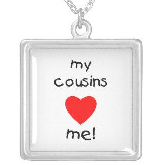 My Cousins Love Me Square Pendant Necklace