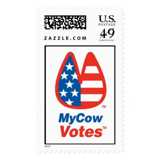 My Cow Votes In The USA! Postage Stamps