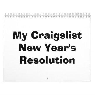 My Craigslist New Year's Resolution Calendar