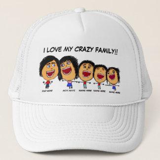My Crazy Family Cartoon Trucker Hat