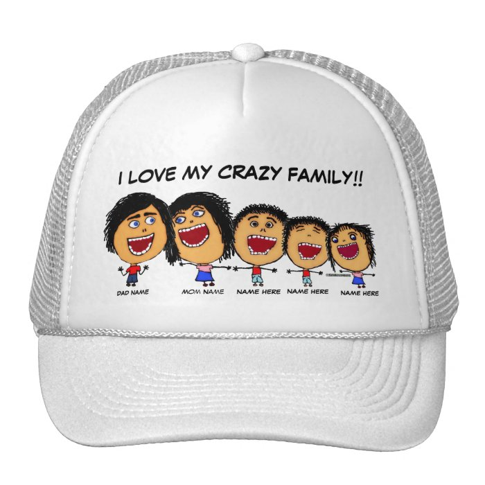 My Crazy Family Cartoon Trucker Hat