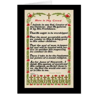 My Creed by Benjamin Franklin Card-Black Border Card