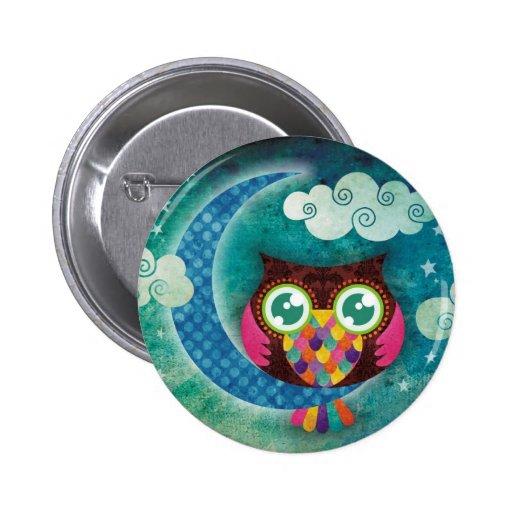 My Crescent Owl 2 Inch Round Button