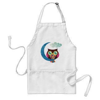 My Crescent Owl Adult Apron
