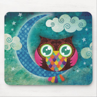 My Crescent Owl Mouse Pad