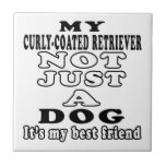 My Curly-Coated Retriever Not Just A Dog Ceramic Tiles