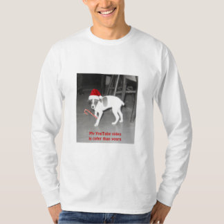 My cute Holiday YouTube Video, vintage puppy image T-Shirt