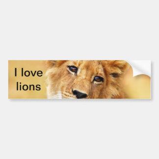 My cute lion face bumper sticker