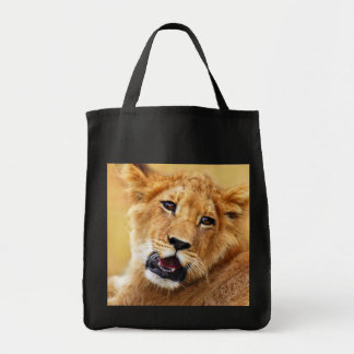 My cute lion face tote bag