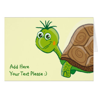 My Cute Tortoise - greeting card