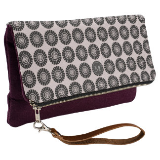 My Cute Vintage Look  Patterned Monogram Clutch