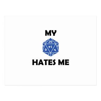 My D20 Hates Me 2RB Postcard