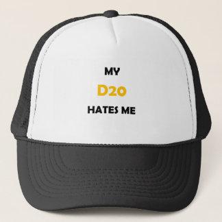 My D20 Hates Me Orange 1B Trucker Hat