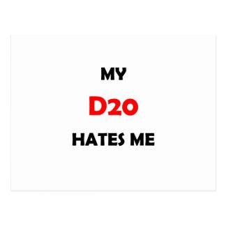 My D20 Hates Me Postcard