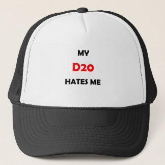My D20 Hates Me Red 1B Trucker Hat