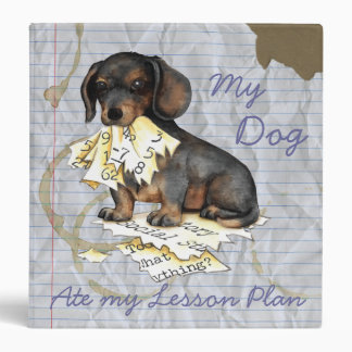 My Dachshund Ate My Lesson Plan 3 Ring Binder