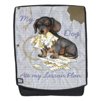 My Dachshund Ate my Lesson Plan Backpack