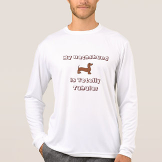 My Dachshund is Totally Tubular Long Sleeve Tee Shirt
