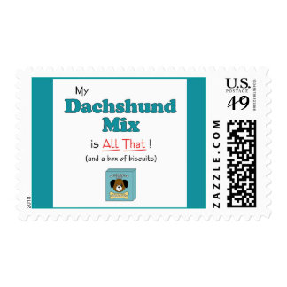 My Dachshund Mix is All That! Postage Stamp