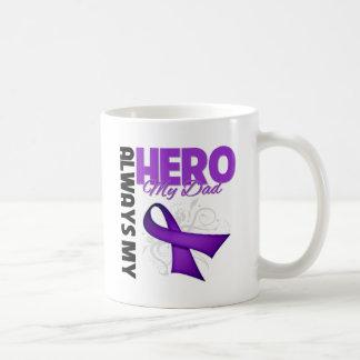My Dad Always My Hero - Purple Ribbon Classic White Coffee Mug