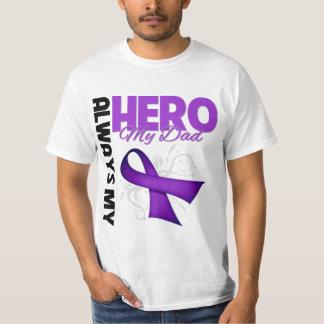 My Dad Always My Hero - Purple Ribbon Tee Shirt