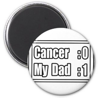 My Dad Beat Cancer (Scoreboard) Refrigerator Magnets