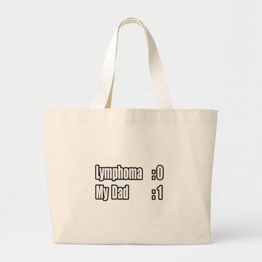 My Dad Beat Lymphoma (Scoreboard) Tote Bags