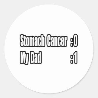 My Dad Beat Stomach Cancer (Scoreboard) Classic Round Sticker