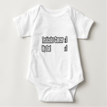 My Dad Beat Testicular Cancer (Scoreboard) Baby Bodysuit