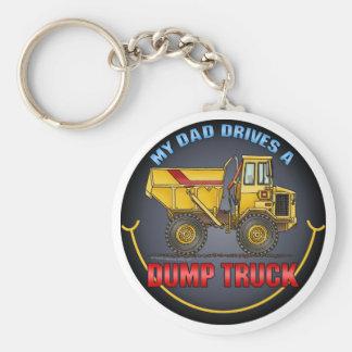 My Dad Drives A Big Dump Truck Key Chain