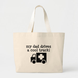 My Dad Drives a cool truck Jumbo Tote Bag