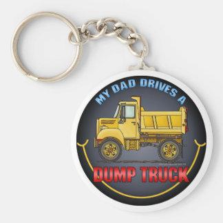 My Dad Drives A Little Dump Truck Key Chain