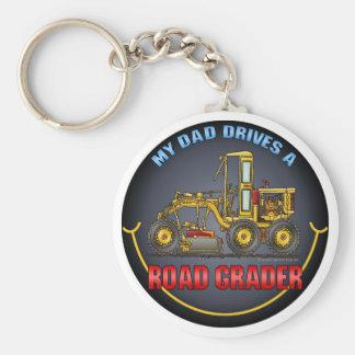 My Dad Drives A Road Grader Key Chain