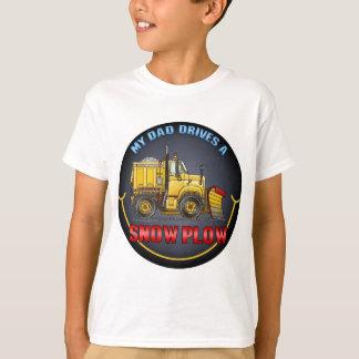 My Dad Drives A Snow Plow Truck Kids T-Shirt