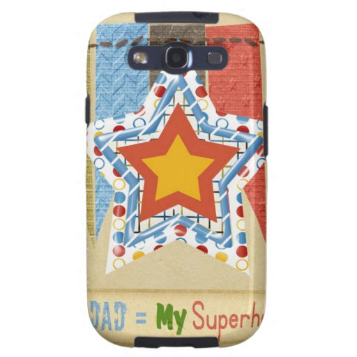 My Dad Equals My Super Hero, Father's day Samsung Galaxy SIII Cases
