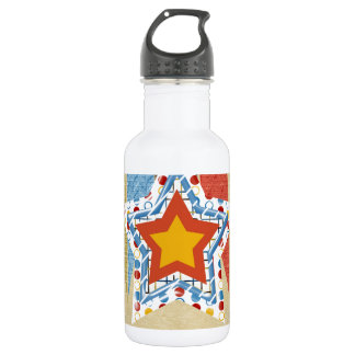 My Dad Equals My Super Hero, Father's day Stainless Steel Water Bottle