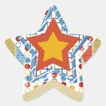 My Dad Equals My Super Hero, Father's day Star Sticker