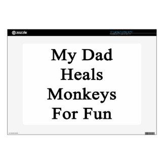 My Dad Heals Monkeys For Fun Laptop Decals