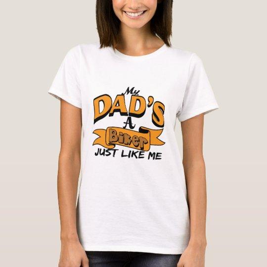 My Dad Is A Biker Just Like Me Orange T-Shirt