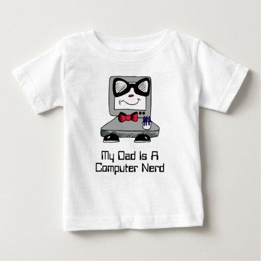 My Dad Is A Computer Nerd Geek Shirt for Babies