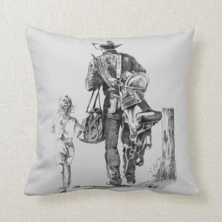 My Dad is a Cowboy Throw Pillow